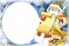 """магнит """"Дед мороз с пером"""""""
